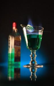 Absinth, trinken , Das, französisches ,Absinth, Ritual